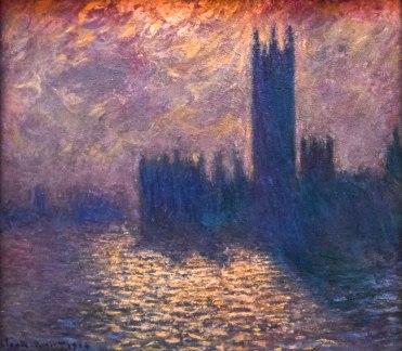 Monet, Le Parlement de Londres - Stormy Night