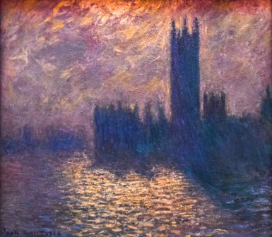 Monet, Le Parlement de Londres - Stormy Night